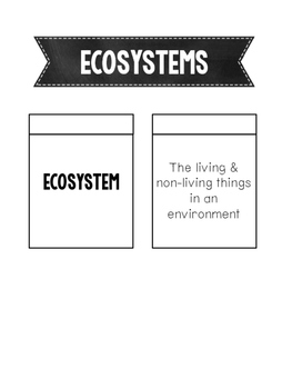 Ecosystems Interactive Notebook