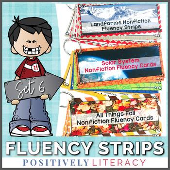 Fluency Strips ~ Fluency Practice for 2nd & 3rd Grades Set 6
