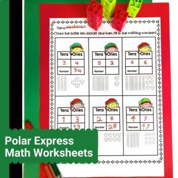 Polar Express Activities 1st Grade - Math Worksheets