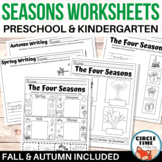 Preschool, Kindergarten Four Seasons Worksheets