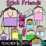 Stick Friends - Teachers & Students CLIPART * FREE MUG Graphics Included!