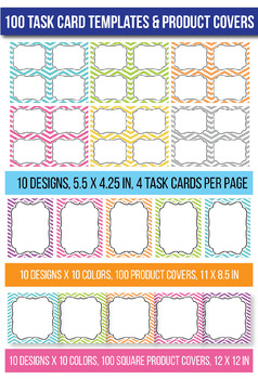 Task Card Templates 100