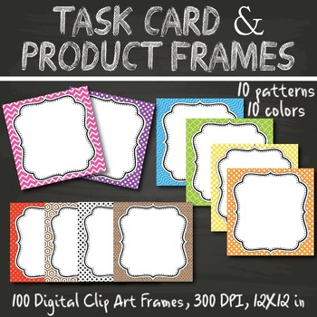 Task Card & Product Frames, Digital Clip Art Frames Set 3