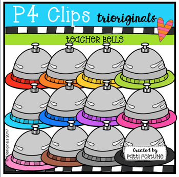Teacher RAINBOW Bells (P4 Clips Trioriginals Clip Art)
