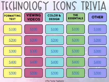 Technology Icons Trivia Game in PowerPoint & Google Slides™