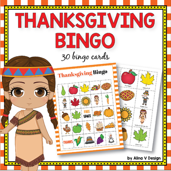 Thanksgiving Bingo Game, Fall Bingo Game, Autumn Bingo Game