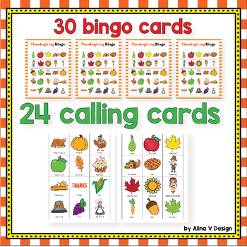 Thanksgiving Bingo Game - Thanksgiving Activities for Kindergarten