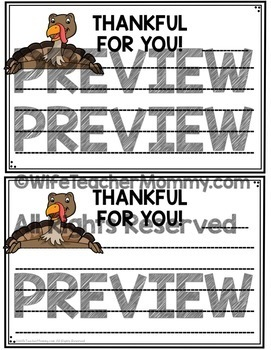 Thanksgiving Writing Prompts and Unit- Thankful Turkey Writing