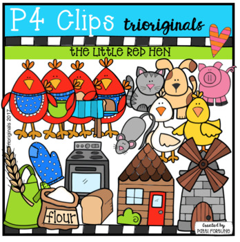 (50% OFF) The Little Red Hen (P4 Clips Trioriginals Clip Art)