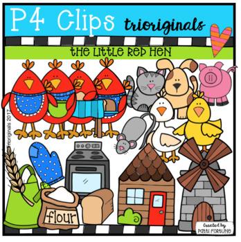 The Little Red Hen (P4 Clips Trioriginals Clip Art)