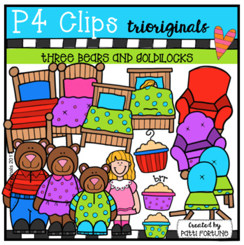 Three Bears and Goldilocks (P4 Clips Trioriginals Clip Art)
