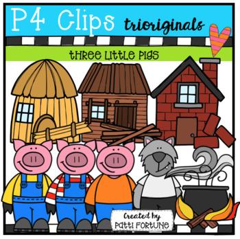 Three Little Pigs (P4 Clips Trioriginals Clip Art)