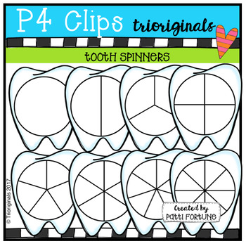 Tooth Spinners (P4 Clips Trioriginals Clip Art)