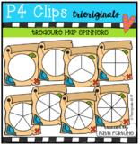 Treasure Map Spinners (P4 Clips Trioriginals Clip Art)