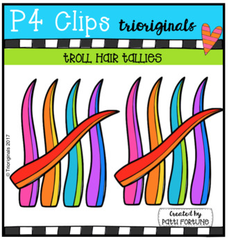 Troll Hair Tallies (P4 Clips Trioriginals Clip Art)