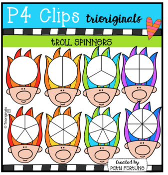 Troll Spinners (P4 Clips Trioriginals Clip Art)