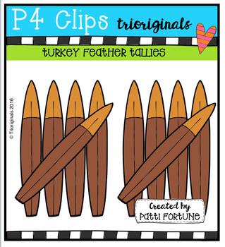 Turkey Feather Tallies (P4 Clips Trioriginals Digital Clip Art)