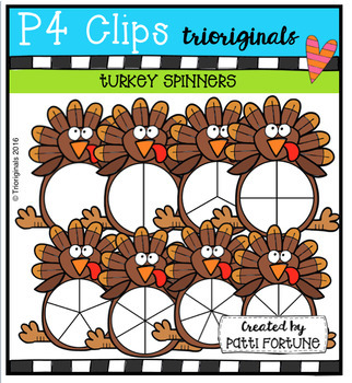Turkey Spinners (P4 Clips Trioriginals Digital Clips Art)