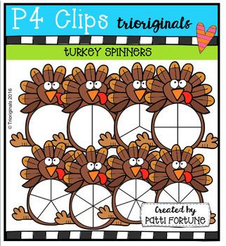Turkey Spinners (P4 Clips Trioriginals Digital Clips Art)