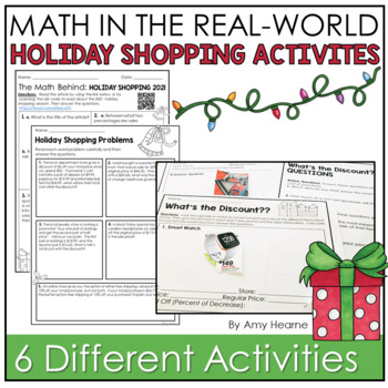 Black Friday and Christmas Math Activities