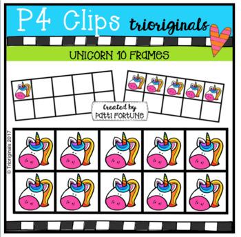 Unicorn 10 Frames (P4 Clips Triorginals Clip Art)