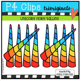 Unicorn Horn Tallies (P4 Clips Trioriginals Clip Art)