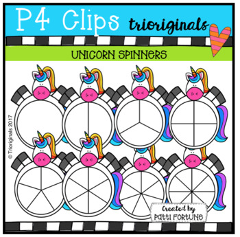 Unicorn Spinners (P4 Clips Trioriginals Clip Art)