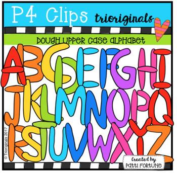 Upper Case Dough Letters (P4 Clips Trioriginals Clip Art)