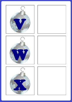 Christmas Activity - Letter Matching Uppercase and Lowercase