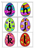 Upper Case & Lower Case Letter Matching Activity- Easter Eggs