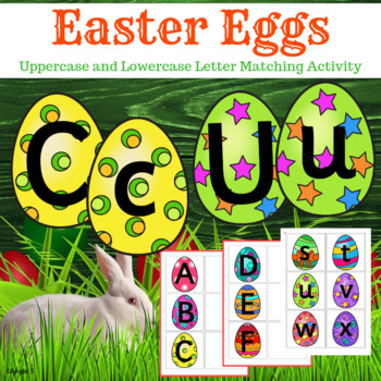Letter Matching Uppercase and Lowercase - Easter Eggs