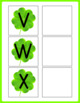 Letter Matching Uppercase and Lowercase - Shamrocks