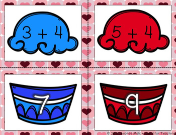 Valentine's Day Math Add and Subtract