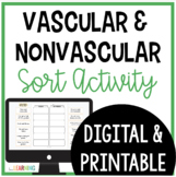 Vascular and Nonvascular Plants Sort