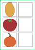 Vegetables Matching Activities