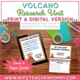 Volcano Research Project, PRINTABLE + GOOGLE SLIDES Distan