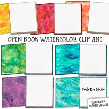 Watercolor Book Clipart by Paula Kim Studio   Teachers Pay ... (350 x 350 Pixel)