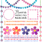 Flower Clipart - Watercolor Graphics Pack