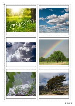 Weather Cards for Speech Therapy and ESL