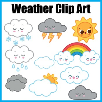 Weather Clip Art, Personal and Commercial Use