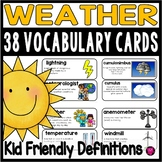 Weather Word Wall Vocabulary Cards