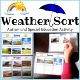 Weather Sorting Activity for Kindergarten and Special Education