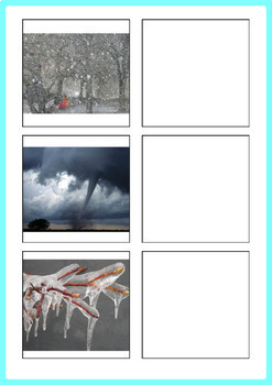 Weather Word to Picture Matching Activity