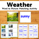 Weather Activity - Word to Picture Match