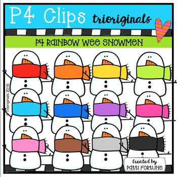 Wee Snowmen (P4 Clips Trioriginals Digital Clipart