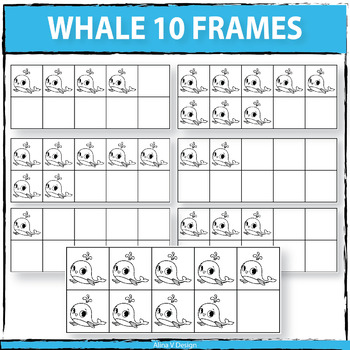Whale 10 Frames Clipart