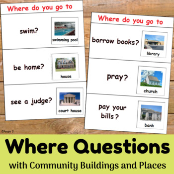 Where Questions Activity for Special Education and Speech Therapy