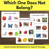 Which One Does Not Belong? Initial Sounds Worksheets