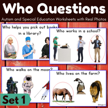 Who Questions Autism Worksheets