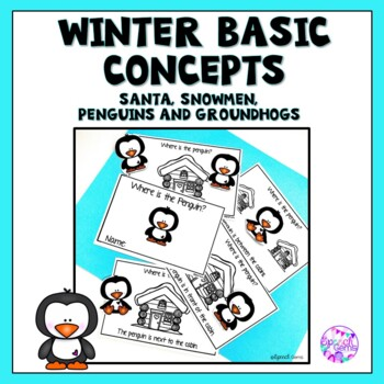 Winter Basic Concept Mini Books (Christmas, Winter and Groundhog Day)